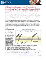 Submission of Appeals and Comments on Preliminary Work Maps and Preliminary FIRMs